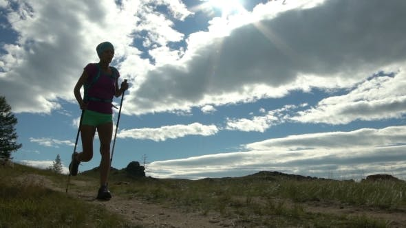 Thumbnail for Young Active Female Run Outdoor in the Sunny Summer.