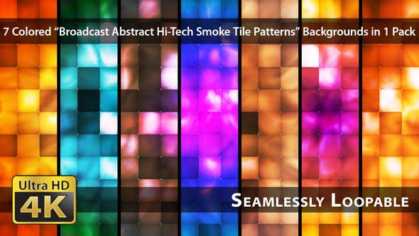 Thumbnail for Broadcast Abstract Hi-Tech Smoke Tile Patterns - Pack 01