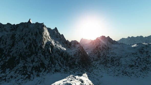 Thumbnail for Mountains in Snow at Sunset