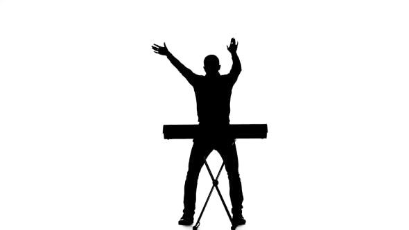 Thumbnail for Man Dj Dancing and Singing at the Piano Sounds