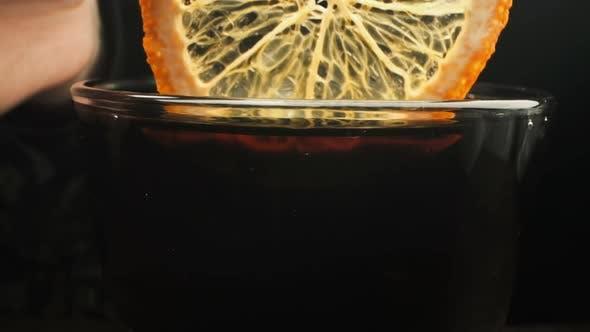 Thumbnail for Tea With Lemon. Close-up. ,
