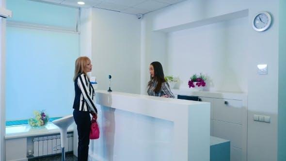 Empfang der Kosmetologie Klinik