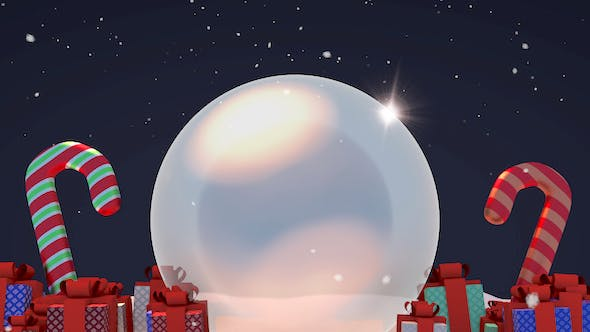 Thumbnail for 3D Christmas Snow Globe and Gifts