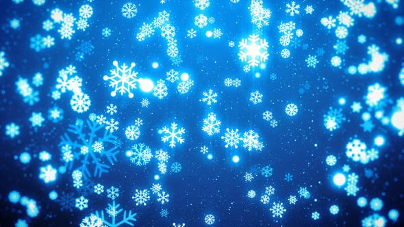 Thumbnail for Snowflakes Christmas Background
