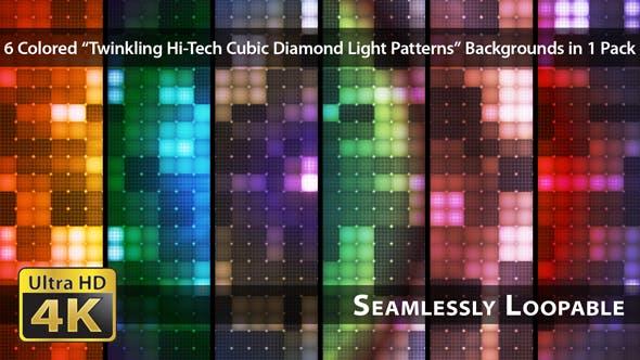 Twinkling Hi-Tech Cubic Diamond Light Patterns - Pack 01