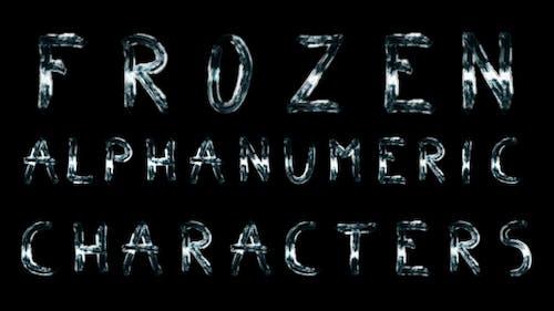 Eingefrorene alphanumerische Zeichen