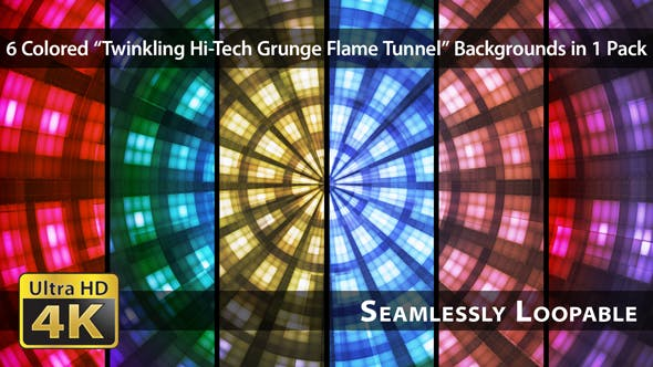 Thumbnail for Twinkling Hi-Tech Grunge Flammentunnel - Pack 04
