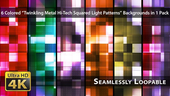 Thumbnail for Twinkling Metal Hi-Tech Squared Light Patterns - Pack 01