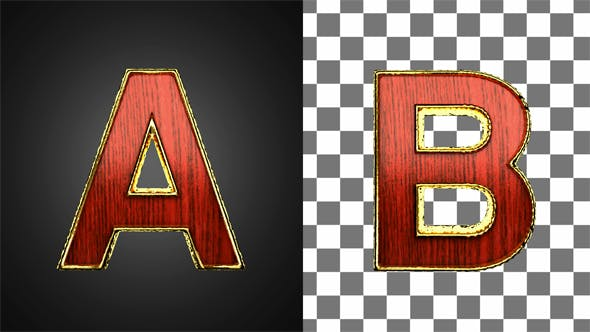 Thumbnail for Loop Golden Letters with Red Wood