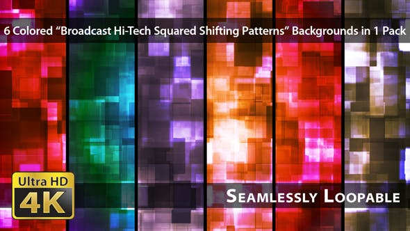 Thumbnail for Broadcast Hi-Tech Squared Shifting Patterns - Pack 02