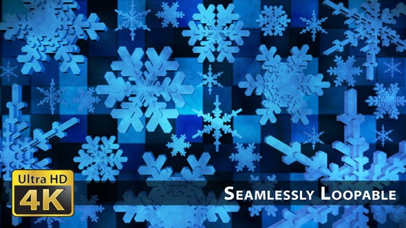 Thumbnail for Broadcast Spinning Hi-Tech Snow Flakes 03