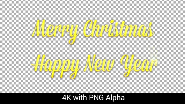 Thumbnail for 4K Pack of Animated Titles New Year and Christmas