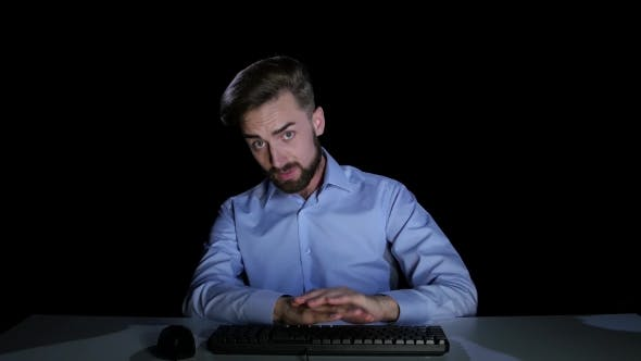 Thumbnail for Man Feels the Emotions of Puzzlement Communicating on the Internet