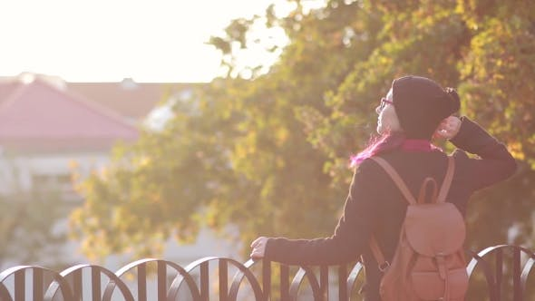 Thumbnail for Young Smiling Woman-Student in Glasses