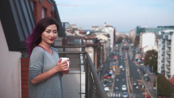 Thumbnail for Beautiful Girl Enjoying Coffee