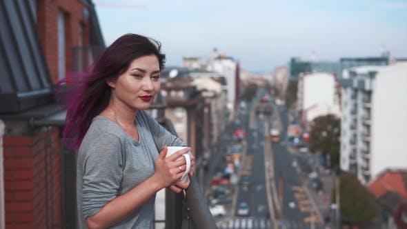 Thumbnail for Pretty City Girl Enjoying Herself