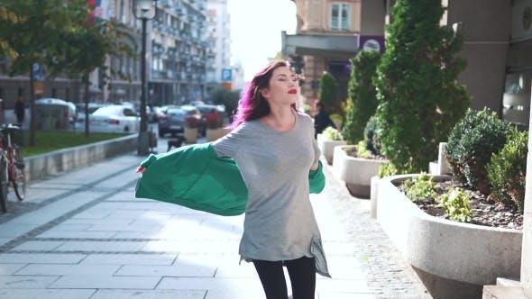 Thumbnail for Fashionable Street Smiling Woman