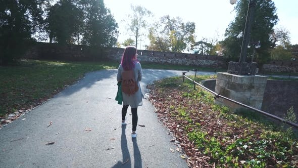 Thumbnail for Girl Walking in the Old Park