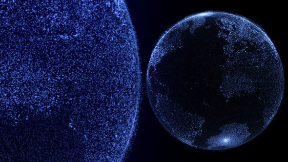 Digital Earth Globe Hologram Head Up Display