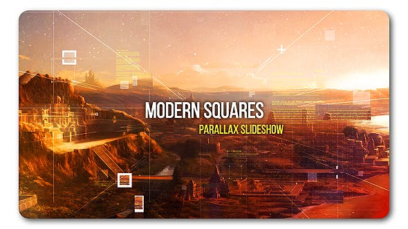 Thumbnail for Modern Squares | Parallax Slideshow