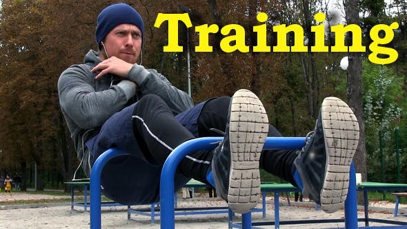 Thumbnail for Strong Athletic Man on Workout Fitness Training on Sports Ground in Park