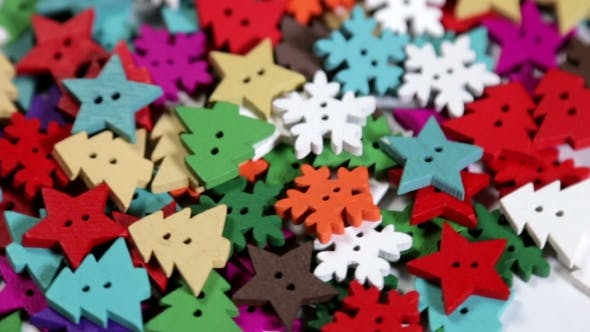 Thumbnail for Mixed Coloured Bright Buttons Christmas Tree Background