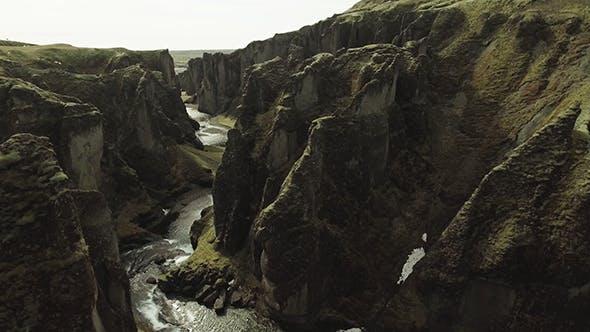 Thumbnail for Fjadrargljufur Canyon with Rocks
