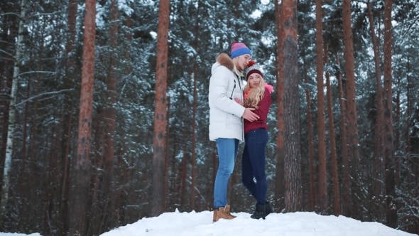 Cover Image for Happy Winter Travel Couple.