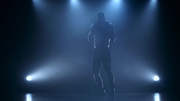 Thumbnail for Strong and Muscular Body of a Boxer in Silhouette