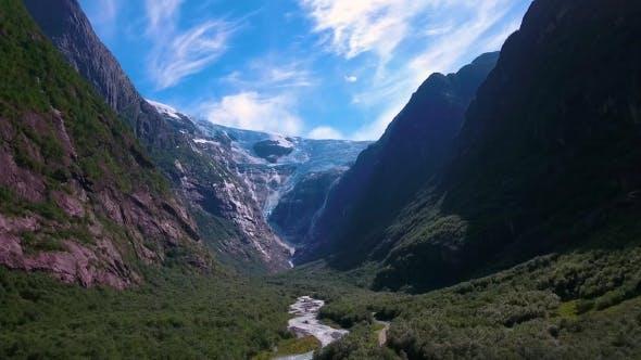 Cover Image for Beautiful Nature Norway Glacier Kjenndalsbreen.