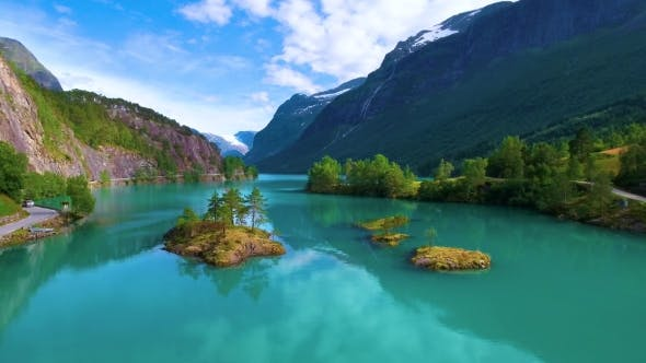 Thumbnail for Lovatnet Lake Beautiful Nature Norway.