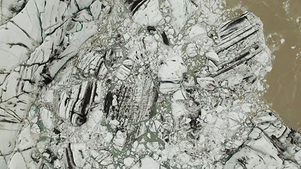 Thumbnail for Details of the Glacier Svinafellsjokull at Winter