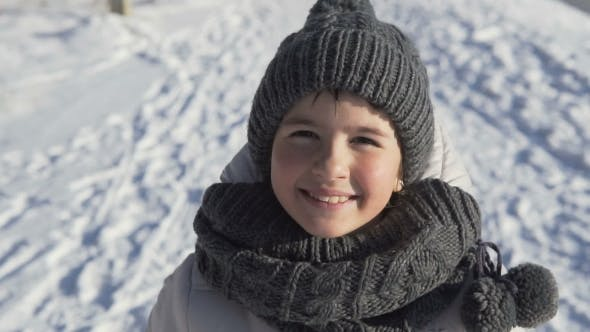 Thumbnail for Young Girl Portrait in Winter Time