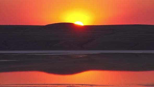 Thumbnail for Sunset Over Salt Lake Chokrak in Crimea