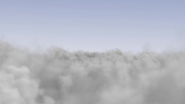 Thumbnail for Flying Above the Clouds on a Sunny Day