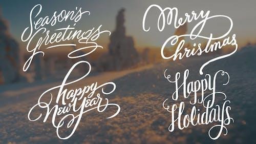 Calligraphic Christmas Title