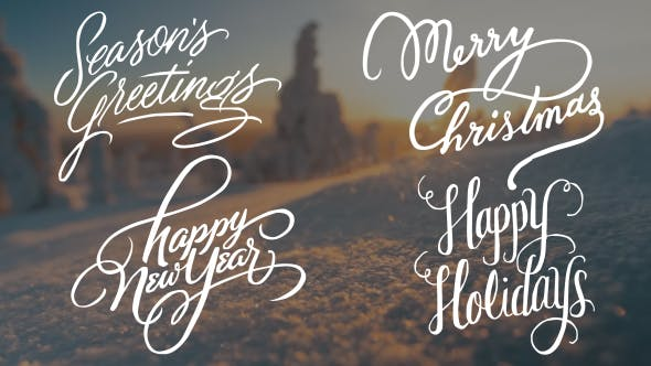 Calligraphic Christmas Title