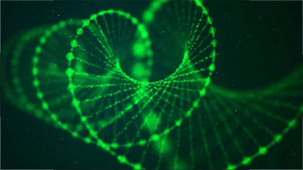 Thumbnail for Creative Animation of Green Loopable DNA