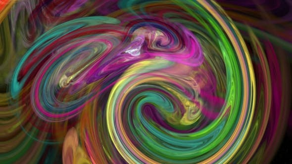 Thumbnail for Colorful Twirl Abstract Background Loop