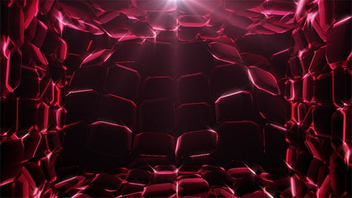 Ruby Waves Background