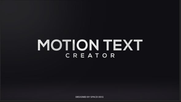 Thumbnail for Motion Text Creator