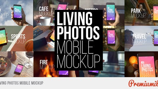 Thumbnail for Living Photos Mobile Mockup