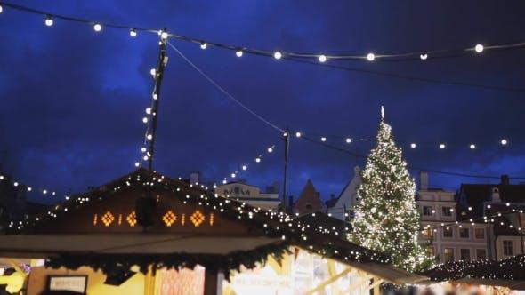 Thumbnail for Illuminated Christmas Tree and Old City Fair