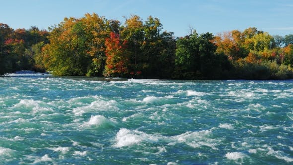 Thumbnail for Raging Rapids of the Niagara River Before the Waterfall