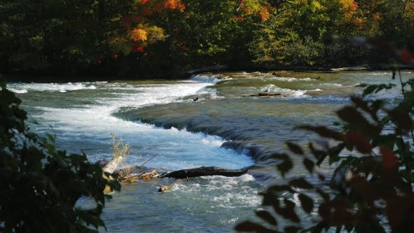 Thumbnail for One of the Inflows of the Niagara River Before the Waterfall. Clear Autumn Day