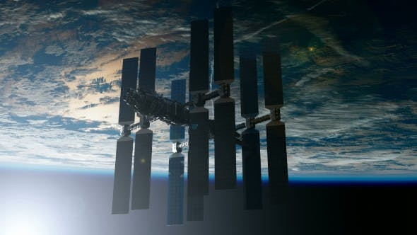 Thumbnail for International Space Station Orbiting Earth