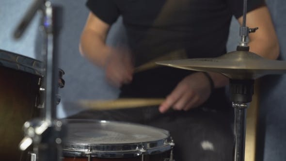 Thumbnail for Drummer Play on Drum Set