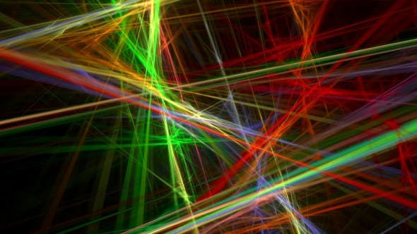 Cover Image for Colorful Lines Abstract Loop Motion Background