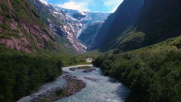 Cover Image for Beautiful Nature Norway Glacier Kjenndalsbreen