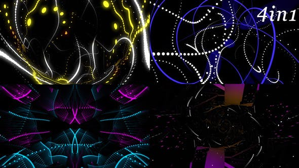 Thumbnail for Particle Dance - VJ Loop Pack (4in1)
